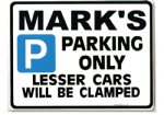Personalised Gift Parking Sign |Small Metal faced